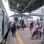 Tiang Besi Eskalator Peron 5-6 Stasiun Tanah Abang