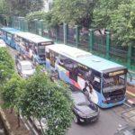 TransJakarta Biang Kerok Kemacetan Stasiun Palmerah