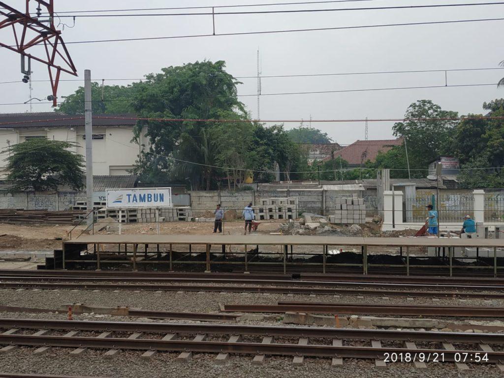 Blue Line : Pembangunan Stasiun Tambun