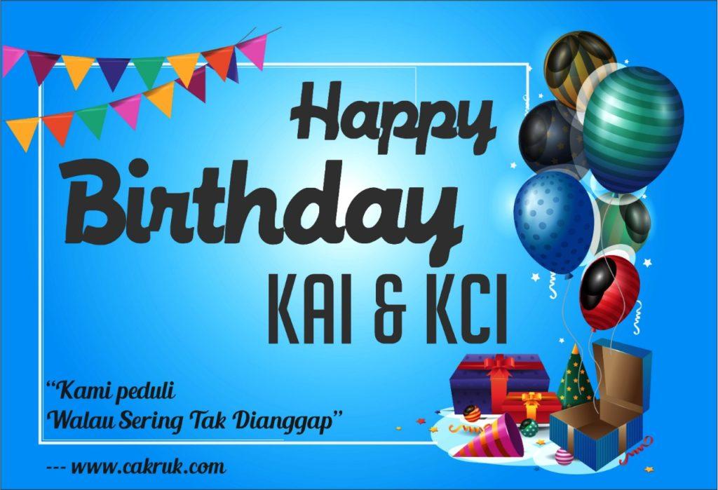Selamat Ulang Tahun KAI dan KCI